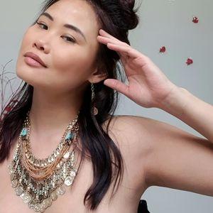 🌟 Boho Coin Charm Aztec Hippie Necklace Set 🌟